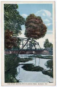 Muncie, Ind., The Steel Bridge - McCullough Park