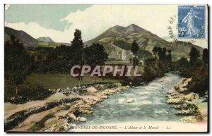 Old Postcard Bagneres De Bigorre L & # 39Adour And The Monne