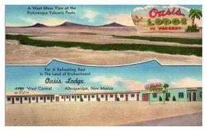 Oasis Lodge, Albuquerque, NM Route 66 Postcard *5F(3)4