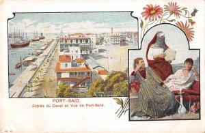 BR102646 port said africa egypt types folklore entree du canal et vue  port said