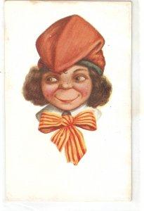 J.Ibañez. Caricatureof a Catalan girl Vintage Spanish postcard