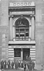 NEW YORK CITY~LIBERTY NATIONAL BANK~OFFICERS-RESOURCES-LIABILITIES~1909 POSTCARD