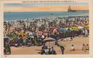 New Jersey Atlantic City Scene On The Beach Near Million Dollar Pier
