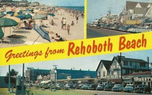 Postcard - Triple Greetings From Rehoboth Beach Delaware Multi View Posted 1965