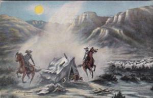 Range Feud By Cowboy Artist L H Dude Larsen 1943