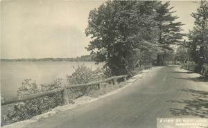 C-1910 Lake Monponsett Massachusetts RPPC Real photo postcard 650