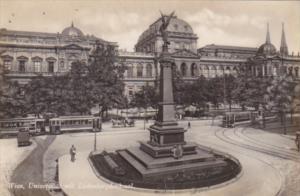 Austria Wien Vienna Universitaet mit Liebenbergdenkmal Real Photo