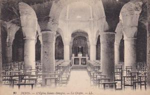 DIJON, Cote D´Or, France, 1900-1910´s; L'Eglise Sainte Benigne, La Crypte
