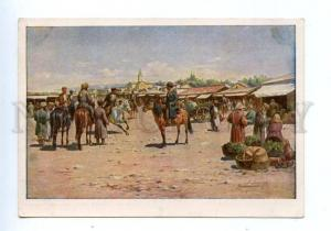 144986 CENTRAL ASIA Market by ZOMMER Vintage postcard