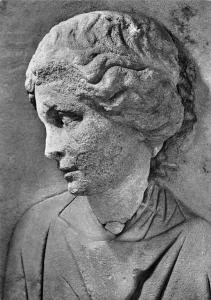 Trier Frauenkopf Relief von einem Grabpfeller aus Neumagen Sculptures