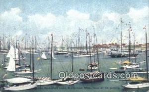 Rock-Mere Hotel, Marblehead, Massechusetts, MA USA Sail Boat Postcard Post Ca...