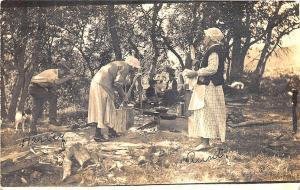 Denver CO Sunken Gardens Speer Blvd in 1923 RPPC Postcard