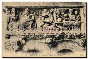 Old Postcard Moissac The Porch From I & # 39Eglise Saint Pierre
