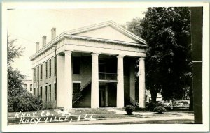 KNOXVILLE, Illinois RPPC Real Photo Postcard KNOX COUNTY COURT HOUSE c1950s
