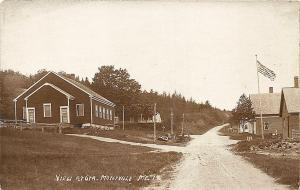 Montville ME Dirt Road Center of Town Eastern Illustrating RP Postcard