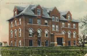 Vintage Postcard Hulitt Conservatory of Music York Nebraska NE