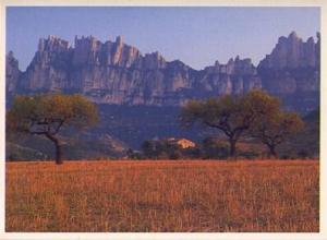 POSTAL 57354: Montserrat. La ?erra d Or·desde la comarca del Bages