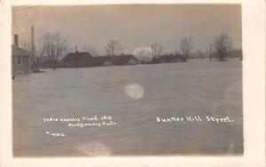 Indianapolis~Bunker Hill Street Homes~Real Photo Postcard~Great Flood 1913 RPPC