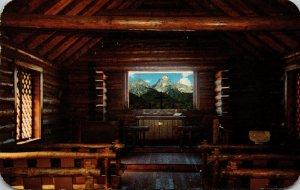 Wyoming Jackson Hole Moose Teton Peaks From Window Of Chapel Of The Transfigu...