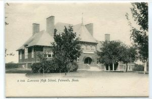 Lawrence High School Falmouth Massachusetts 1907c Rotograph postcard