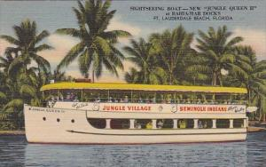 Florida Fort Lauderdale Beach Sightseeing Boat New Jungle Queen If At Bahia -...
