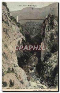 Old Postcard Bridge to & # 39Abime Surroundings d & # 39Aix les Bains