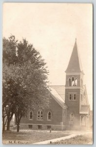 Bunker Hill Indiana~Methodist Episcopal ME Church~Lots Doing Nowadays~1907 RPPC