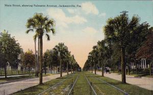 Florida Jacksonville Main Street Showing Palmetto Avenue