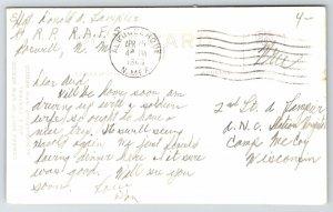 Albuquerque~San Felipe de Neri Church~RPPC Soldier to Soldier Mail~1943 WWII