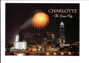 Fireworks, Downtown at Night, Charlotte, North Carolina