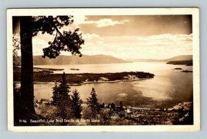 Lake Pend Oreille ID, Scenic View, RPPC Idaho c1944 Postcard