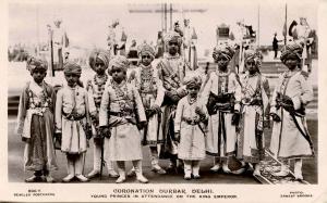 India - Delhi, June 22, 1911. Coronation Durbar. Young Princes in attendance ...