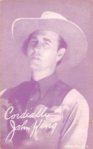 John King Western Actor Mutoscope Unused