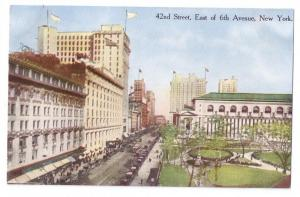 42nd Street East of 6th Ave New York NY 1914 Postcard