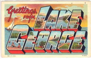Large Letter Lake George NY