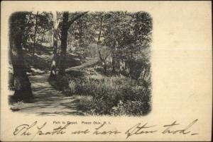 Peace Dale RI Path to Depot c1905 Postcard