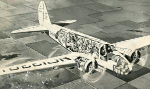 United Airlines - Boeing 10 Passenger  Cut-away (Airline Issued)