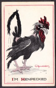 "Bernhardt Wall – ""I'm Henpecked"" rooster – great graphics"