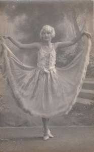 RP: Girl in party dress , 1900-10s