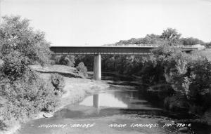 Nora Springs Iowa~Highway Bridge on Shell Rock River~Comic on Back~1964 RPPC