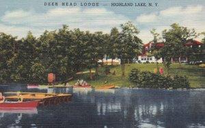 HIGHLAND LAKE , New York , 1930-40s ; Deer Head Lodge