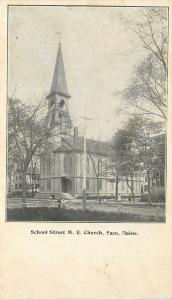 Saco Maine~School Street United Methodist Episcopal Church~c1906