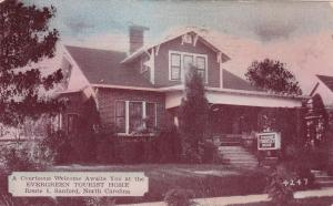 Evergreen Tourist Home, Route 1, Sanford, North Carolina, PU-1940