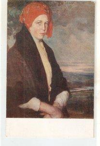 F.Alvarez Sotomayor. Spanish Lady. Bergantiñana Nice spanish postcard 1920s