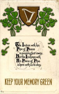 Greeting - St Patrick's Day        (embossed, gold)