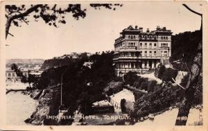 TORQUAY UK IMPERIAL HOTEL REAL PHOTO POSTCARD