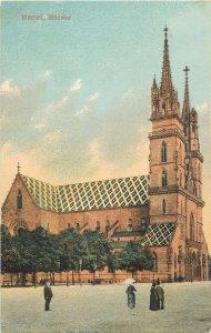 Postcard Switzerland Basel Monster church view