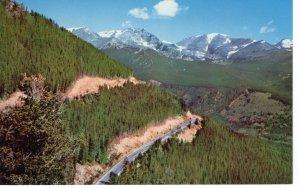 US    PC3977 SWITCHBACK ON TRAIL RIDGE, ROCKY MOUNTAIN NATIONAL PARK, COLORADO