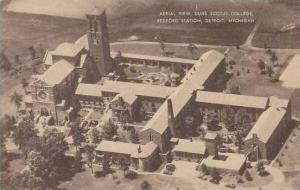 Michigan Detroit Aerial View Scotus College Redford Station Artvue