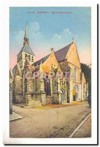 Provins Old Postcard Holy Cross Church